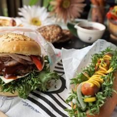 とかち野酵母♡手作りハンバーガー&ホットドッグ*超簡単!ポテトグラタン