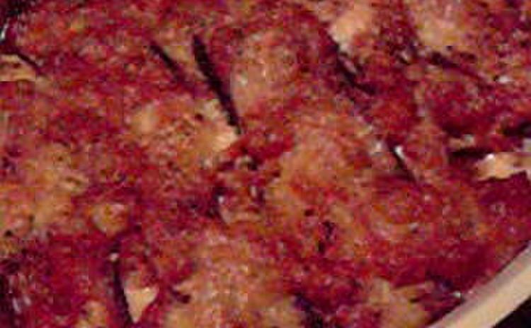 詰め物パスタ「カペラッチ」と「ナスの重ね焼き」