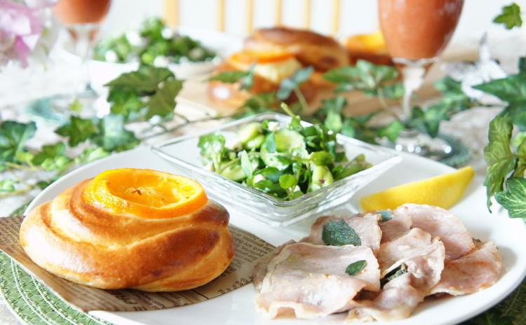 *春色デリご飯*『オレンジのチーズクリームパン』&『枝豆ダックワーズ』