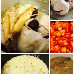 べっスク(백숙)とカクデギ(韓国料理)お土産べっスク、カクデギ1本)