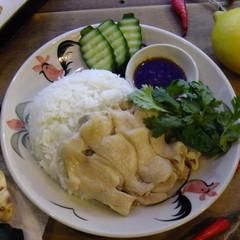 カオマンガイを二種の加熱法で(チキンライス) ぷるるん♪マンゴーゼリー