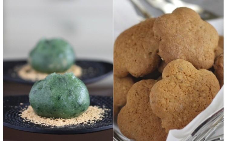5月/つやつや!「よもぎ餅」と白ごまたっぷり「ボーロ」(南蛮菓子)