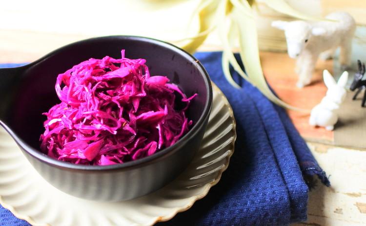 紫キャベツのエスニック風マリネ
