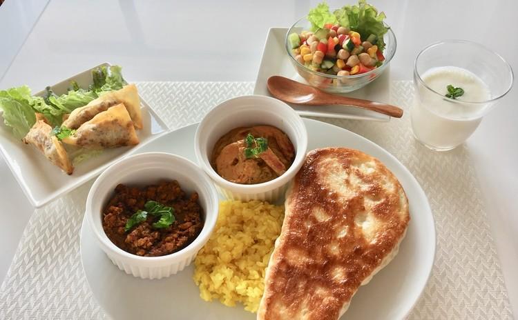 【スイーツorお土産付】2種のカレー♪インド料理メニュー全7品♪