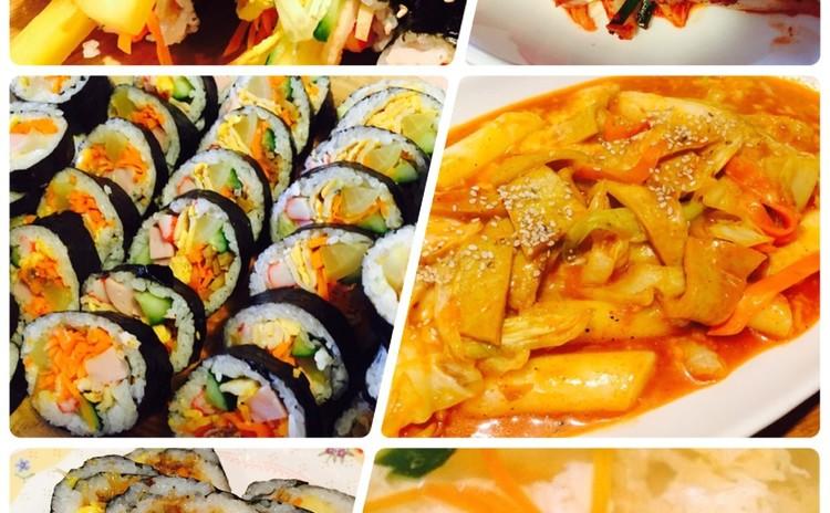 人気👍のり巻.김밥、トッポッキ떡볶기、卵スープ계란탕、即席キムチ배추겉절이、お土産のり巻きあり🌸(ベジテリア可)