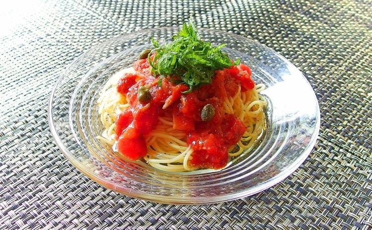 ツナとトマトの冷製カッペリーニ