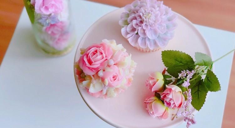 まるで生花のような透明感♡テキスト付きフラワーケーキ基礎レッスン