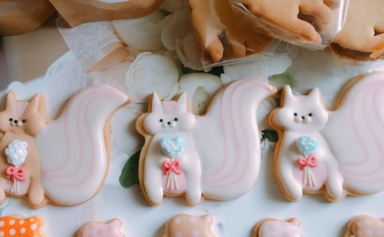 リスとどんぐりのアイシングクッキー