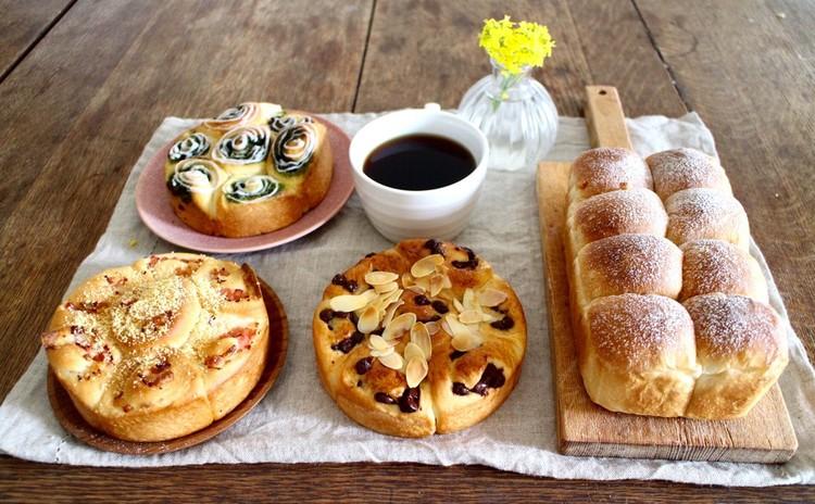 日程追加!*orange bread*3種類のロールインちぎりパン*