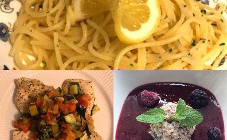 レモンのパスタ☆魚と夏野菜のオーブン焼き☆ドルチェ