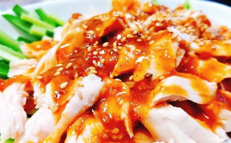 【基礎レッスン7】エビチリ、棒棒鶏サラダ、ワンタンスープ、簡単花巻