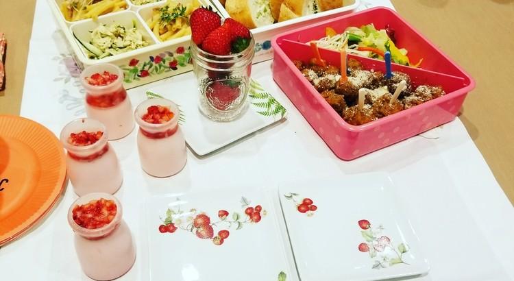"""""""おしゃピク""""レッスン☆お料理30分5品&ポーセラーツ小皿4枚"""