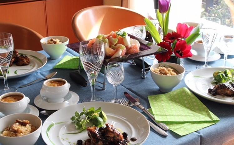 リクエストレッスン銘柄鶏と美味料理&オニオングラタンスープ
