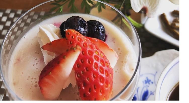豆乳イチゴゼリー