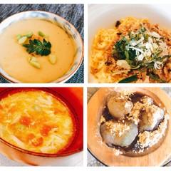 鯖そぼろちらし寿司・ウニの茶碗蒸し・鶏とトマトのかき卵汁・手作り葛餅