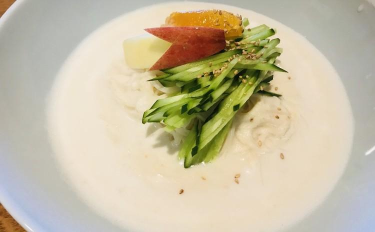 豆腐と大豆そう麺(コングッス)韓国料理、おからチジミ(お土産あり)