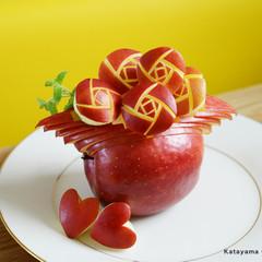 インスタ映えする「りんご彫刻」(フルーツカービング)レッスン♪