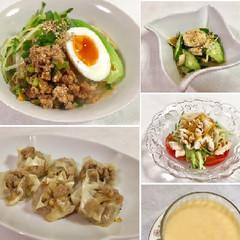 簡単中華♡担々麺 シュウマイ 棒棒鶏 ヨーグルトマンゴームースをお家で