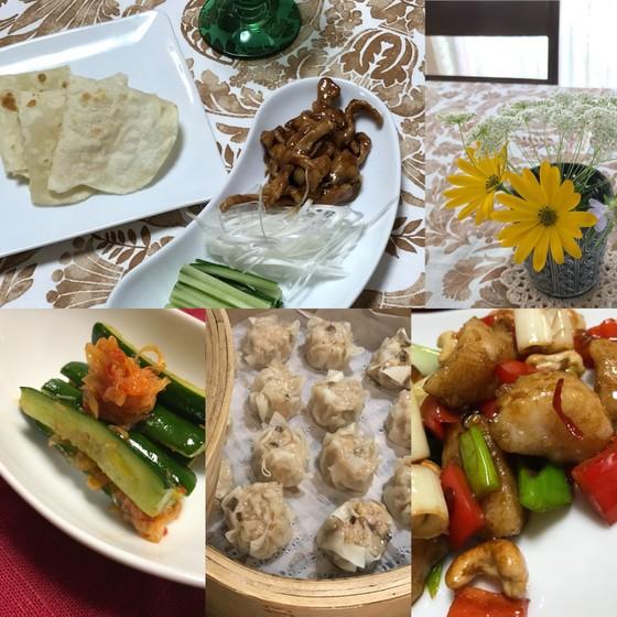 中華でおもてなし/牛肉甜麺醤炒めの薄皮包み・帆立とカシューナッツ炒め他