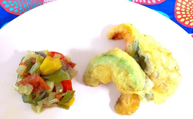 野菜のベニエと夏野菜のラタトゥイユ