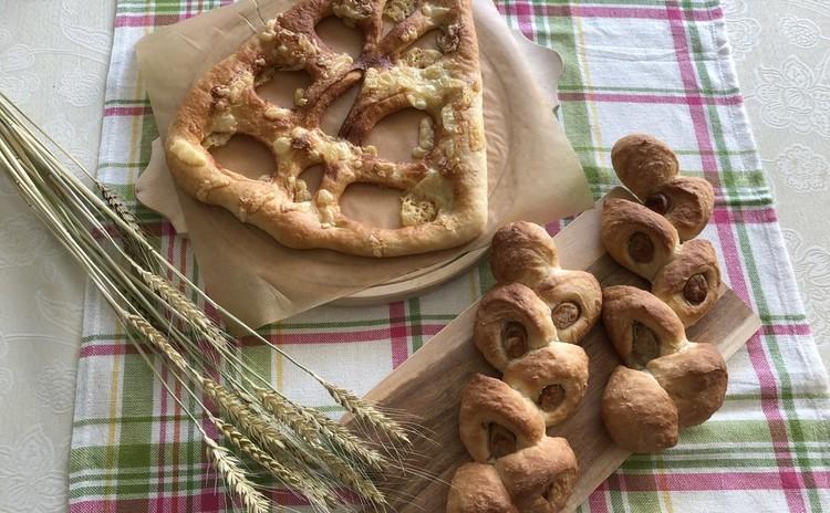 フランス生地で作る2種類のパン「エピ」・「フーガス」