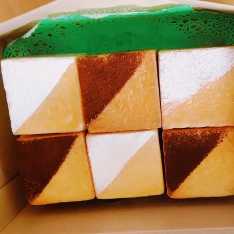 キューブ型クリームパン&チョコクリームパン