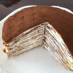チョコレートクリームココアのミルクレープレッスン