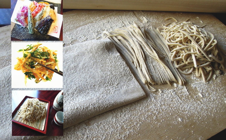 蕎麦打ち体験&野菜天ぷらレッスン