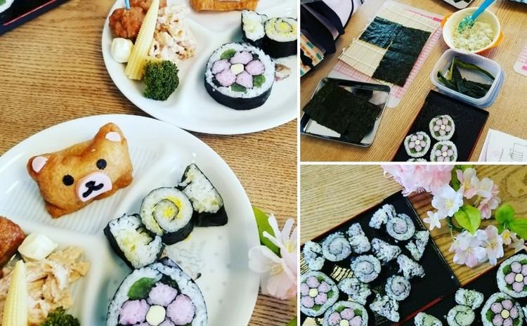 断面の綺麗な飾り巻き寿司