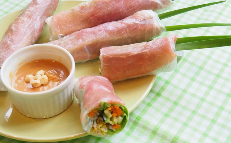 野菜たっぷり生春巻き&ピーナッツソース