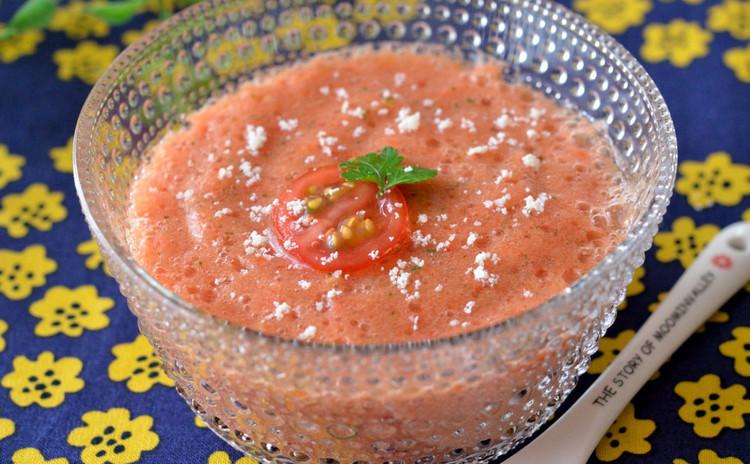 冷製フレッシュトマトのスープ・ガスパチョ