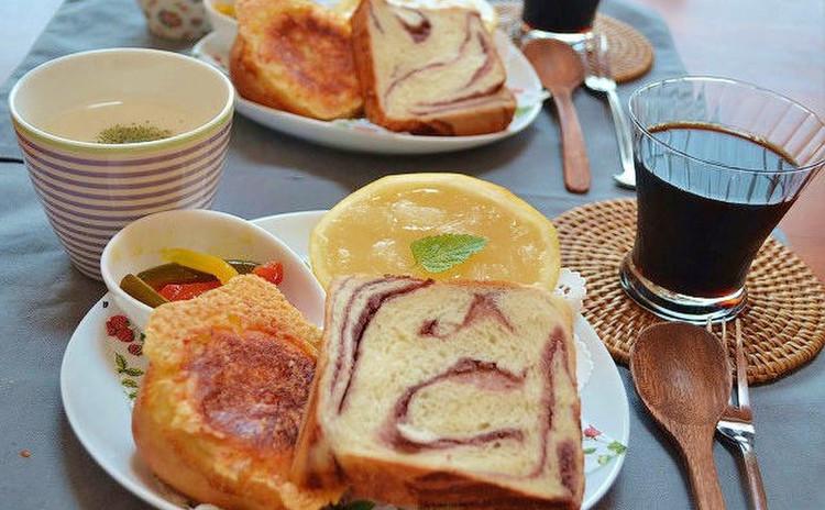 楽々!ホームベーカリでこねて・パリパリカレーパン・マーブルあん食パン