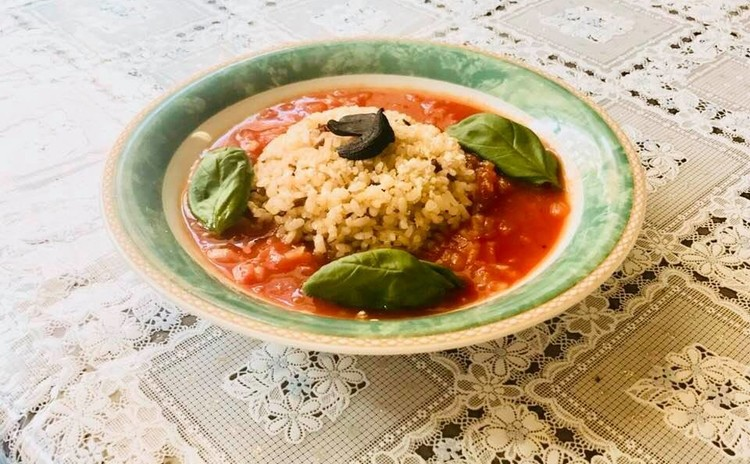 火を使わないトマトスープご飯!簡単美味