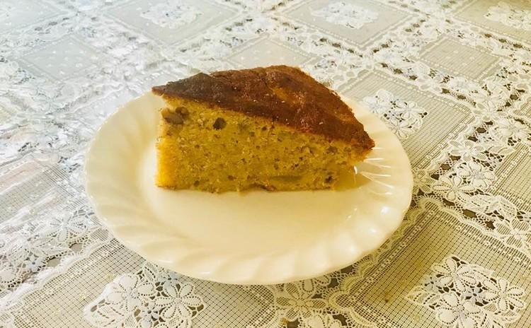 クルミ&レーズン入りバナナケーキ