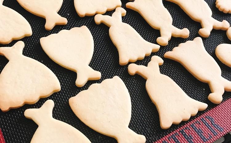 アイシングのしやすいクッキー生地