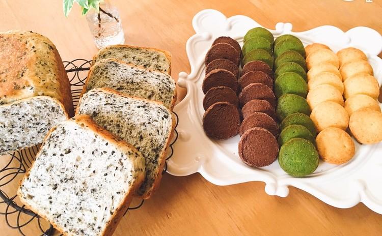 ゴマの角食パンと発酵中にできる♫3色アイスボックスクッキー