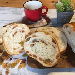 自家製レーズン酵母で作るカラフルレーズンラウンドパン