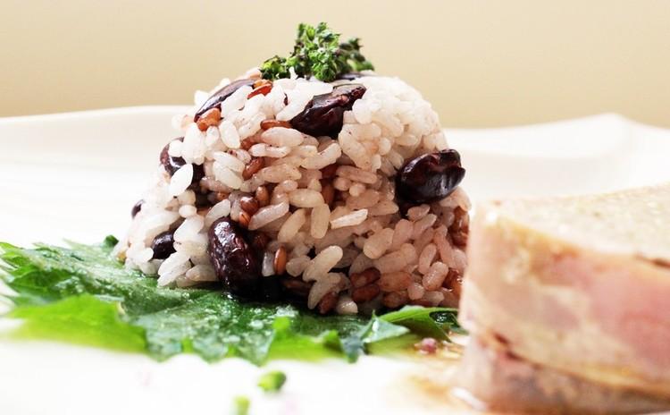 赤米と赤いお豆のごはん