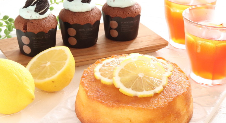 1分ケーキ❤プロの手抜きテク!レモンケーキとチョコミントケーキ