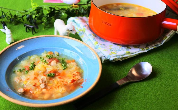 フランスの田舎スープ ガルビュール