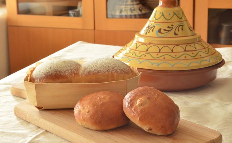ふわふわヘルシー 豆乳ブレッド&ひよこ豆パン こだわりランチ付き