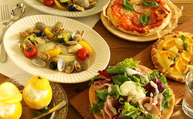 <夏の特別企画>3種のピッツァとアクアパッツァなど【お土産付き】