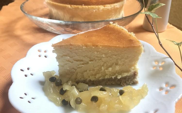 リンゴ山椒ジャム付きチーズケーキ