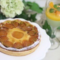 初夏の焼き菓子♫ 定番のアプリコットタルトと簡単 抹茶のヴェリーヌ