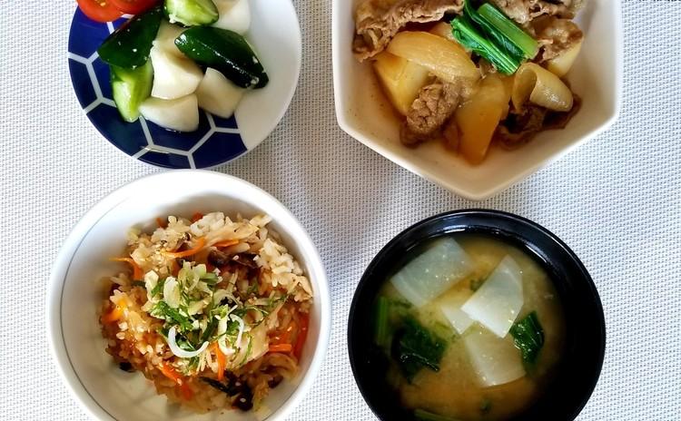 【家庭料理の基本】炊き込みご飯、肉じゃがなど