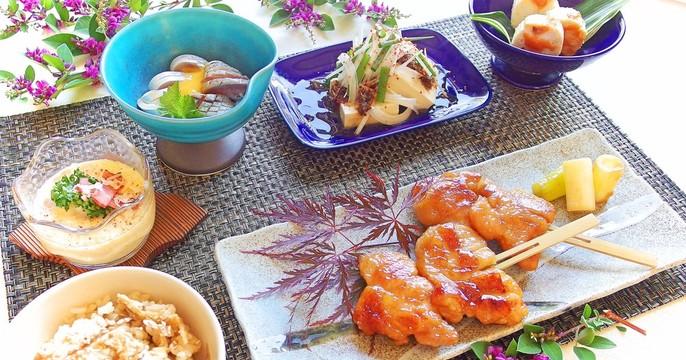 【居酒屋直伝!】鶏の鍬焼き&〆鯵の黄身酢がけ 他、初夏を彩る小鉢達