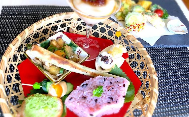 夏を彩る花籠膳〜夏野菜たっぷり、変わり天ぷらの献立