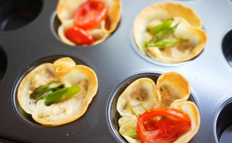 ツナマヨチーズの餃子の皮タルト