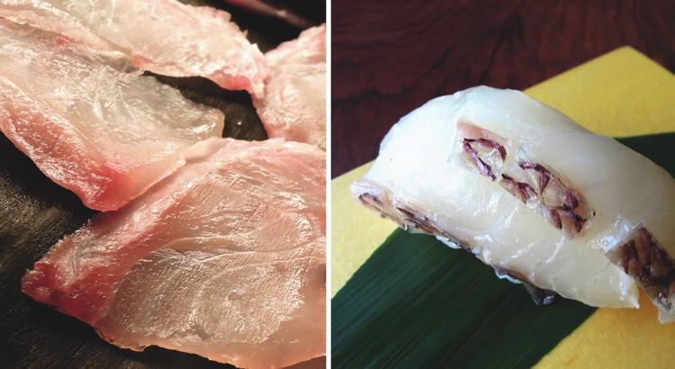 鯛(たい)の昆布〆