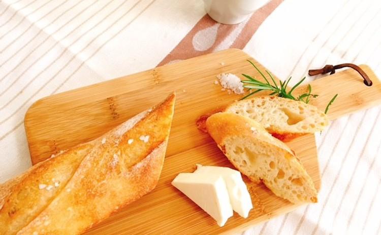 ホシノ酵母で作る塩バタール&トマトとセロリのさっぱりスープ 塩バタール1本・生地2本分・酵母2本分持帰り付